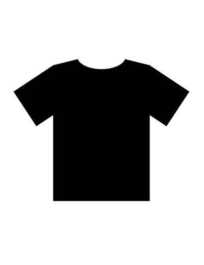 black t shirts template - photo #18