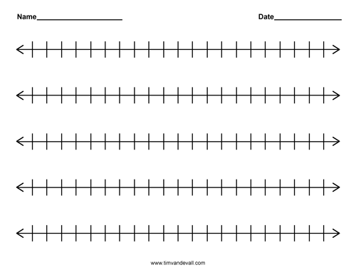 Printable Blank Number Line Templates for Math Students and Teachers – Blank Number Line Worksheet