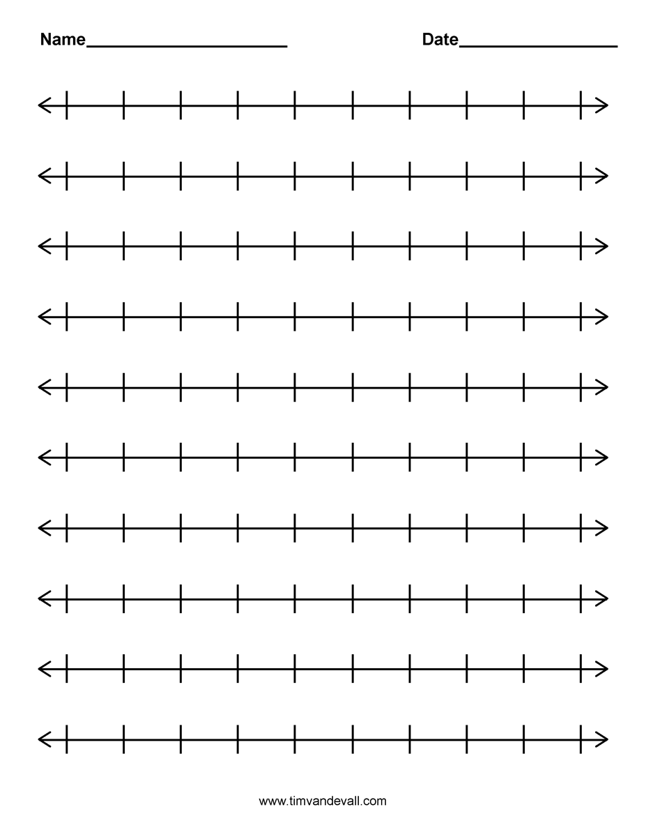 Exceptional image with blank number line printable