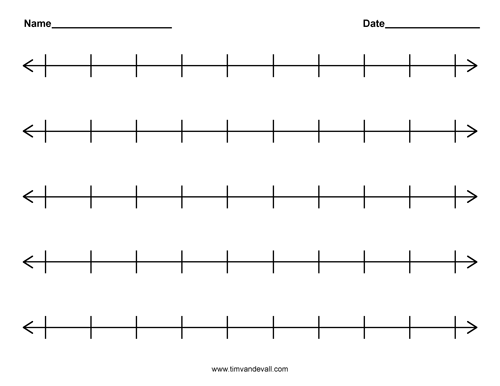 photo about Blank Number Line Printable identified as Printable Blank Selection Line Templates for Math Pupils and