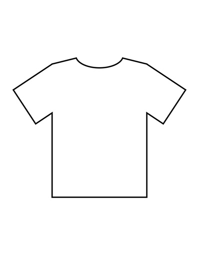 Blank t shirt templates pdf for Blank t shirt design template
