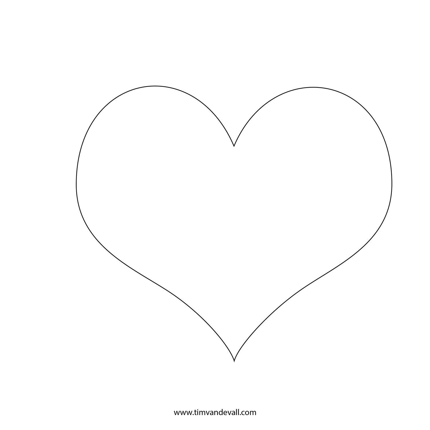 Prinable Heart Stencil| Free Heart Silhouette Template