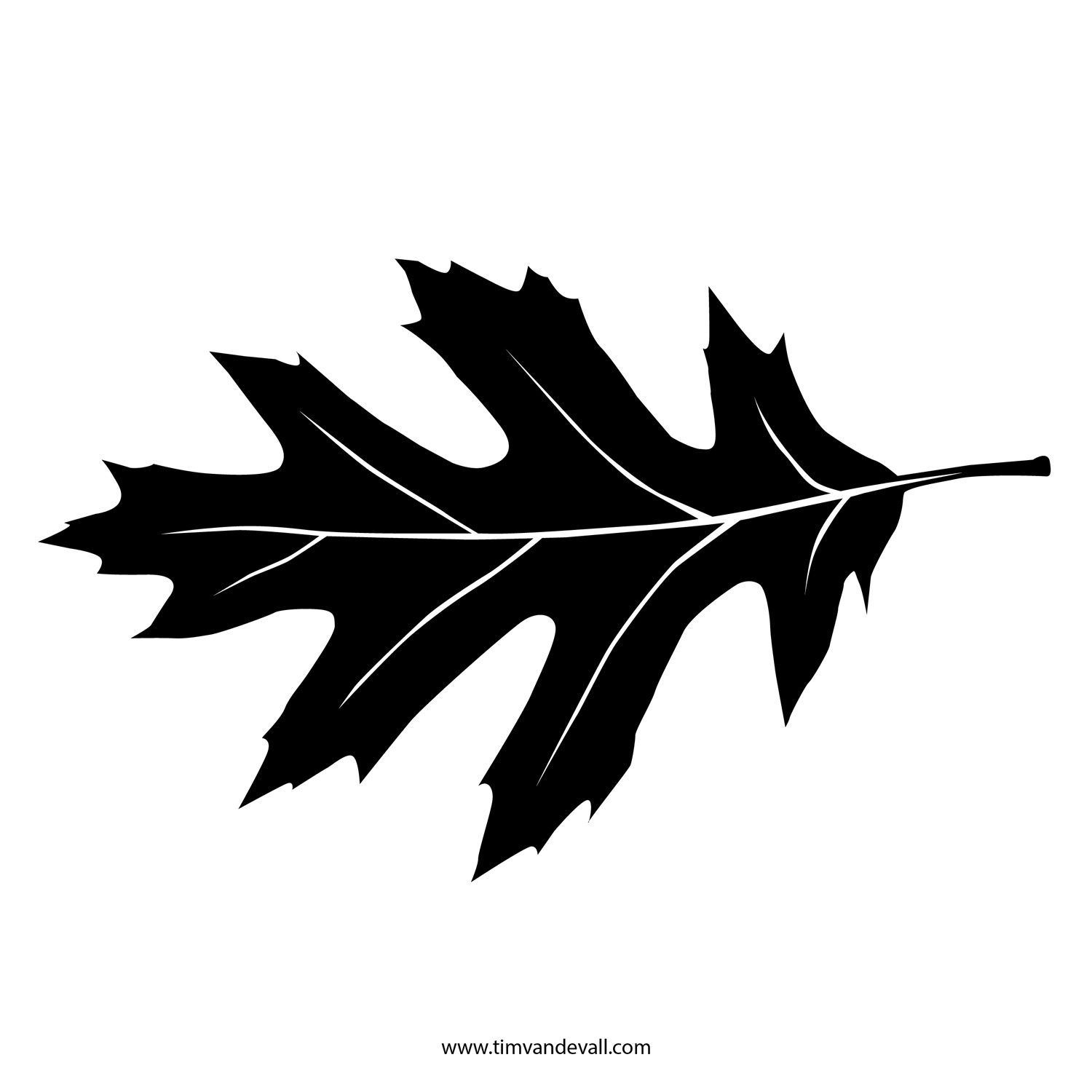 Printable Leaf Stencil, Outline, and Silhouette