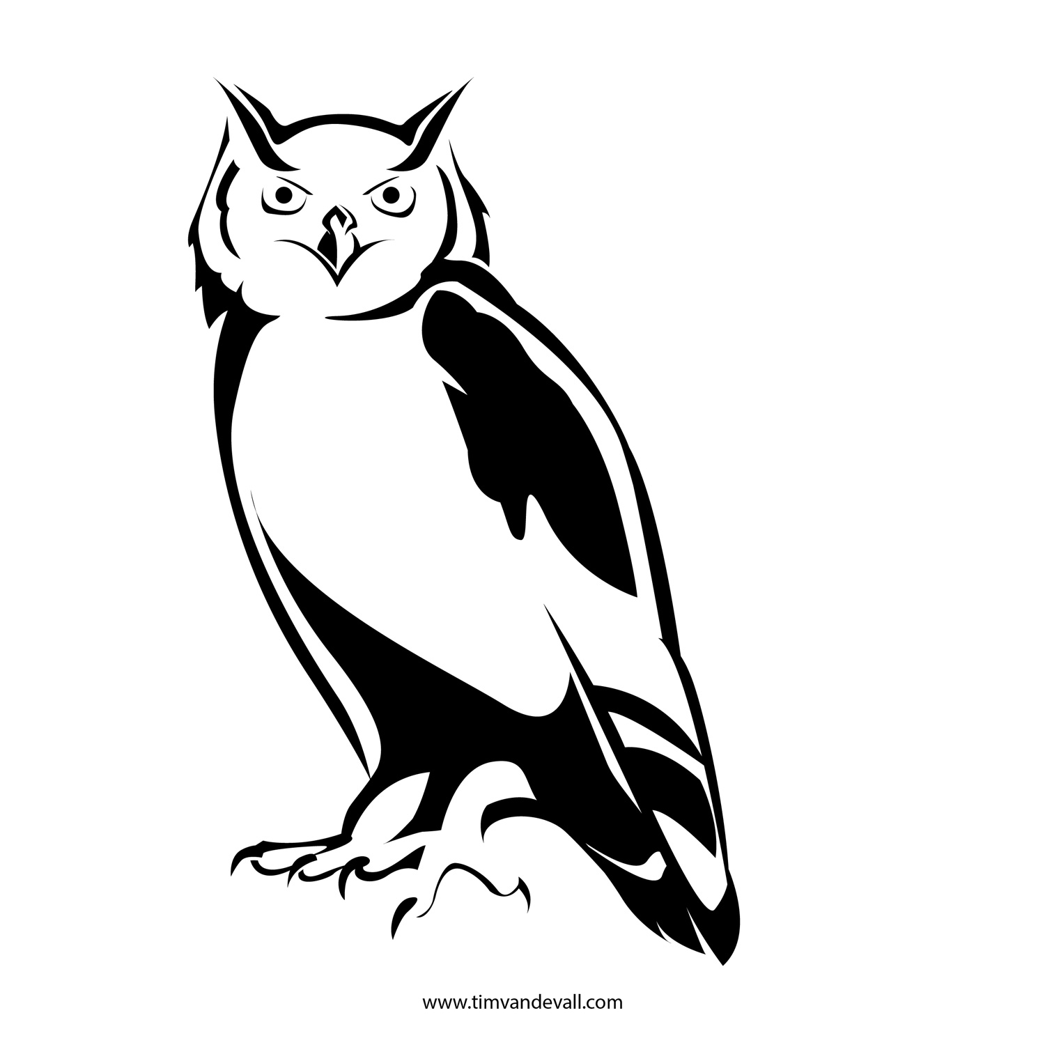 Printable owl stencils - photo#13