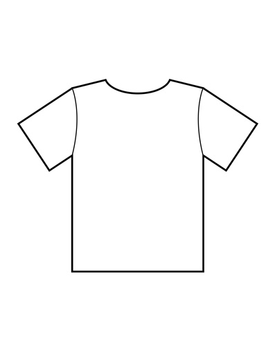 image about Printable T Shirt Template titled Blank T Blouse Templates PDF