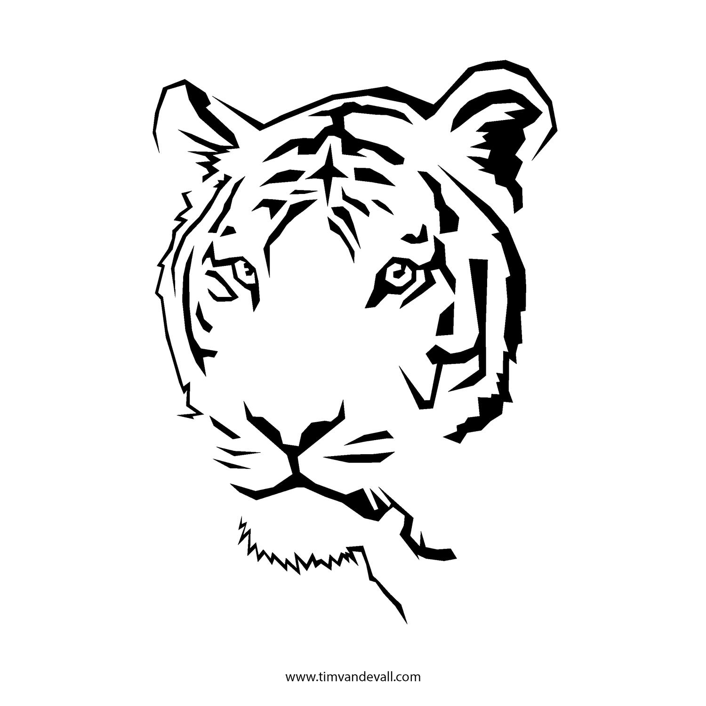 ... - Tiger Face Stencil Free Printable Printable Tiger Face Stencil