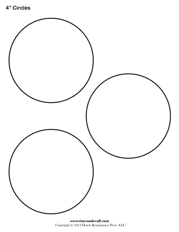 3 inch circle pattern. Use the printable outline for crafts.