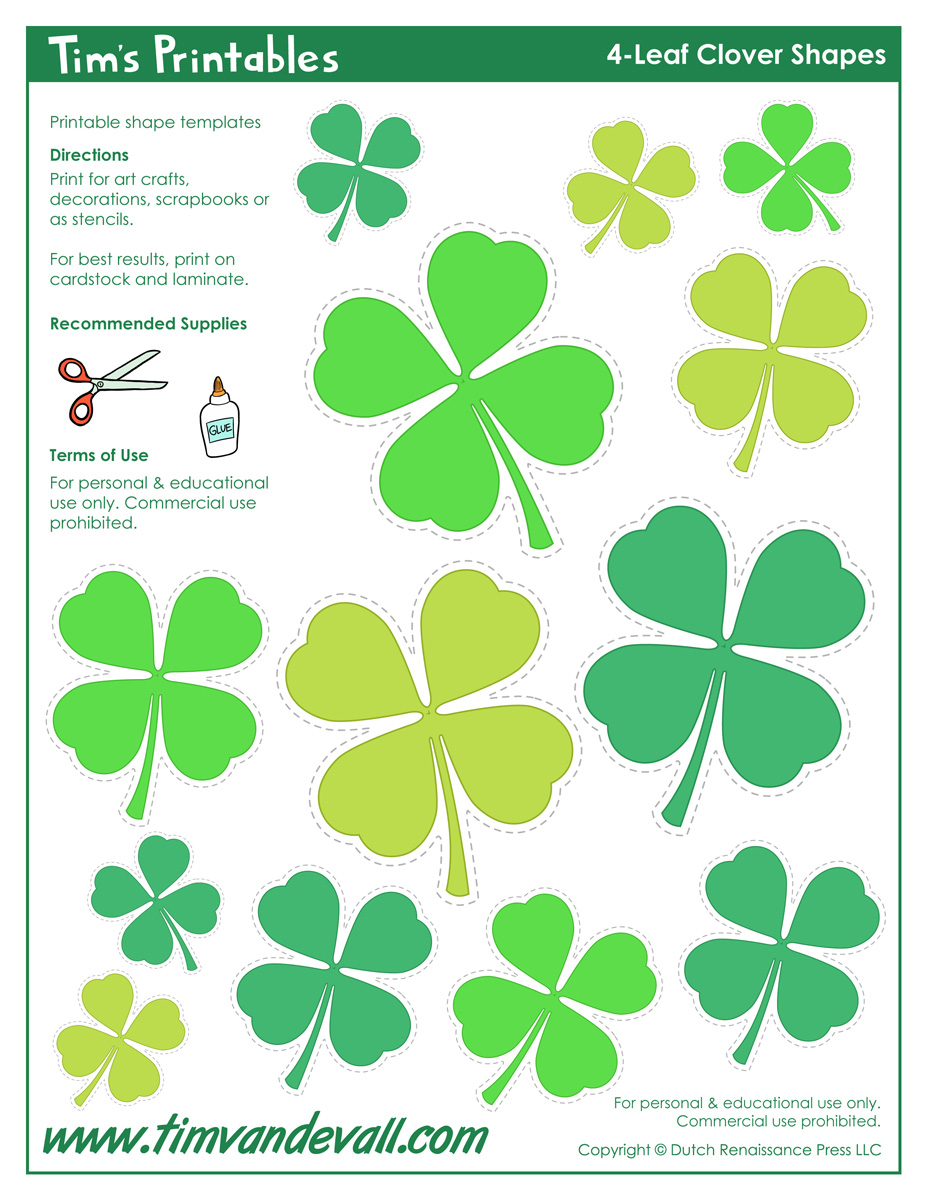 photograph regarding 4 Leaf Clover Printable identify 4-Leaf Clover Templates