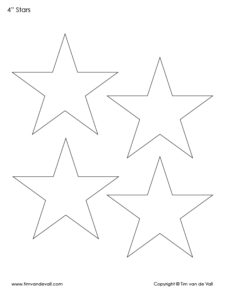 4 inch star templates
