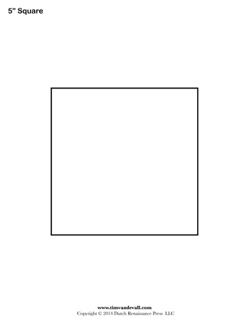 image relating to Square Template Printable known as Sq. Templates - 5 Inch - Tims Printables