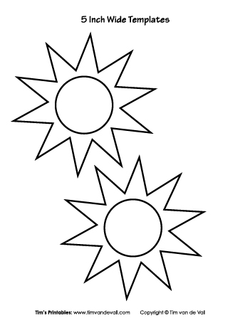 picture about Sun Template Printable identified as Freebie Archives - Web site 4 of 13 - Tims Printables