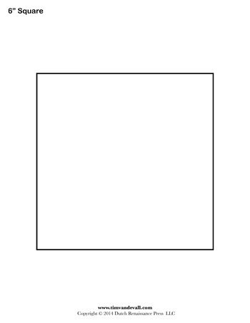 Square Templates Blank Shape Free Printable Pdf