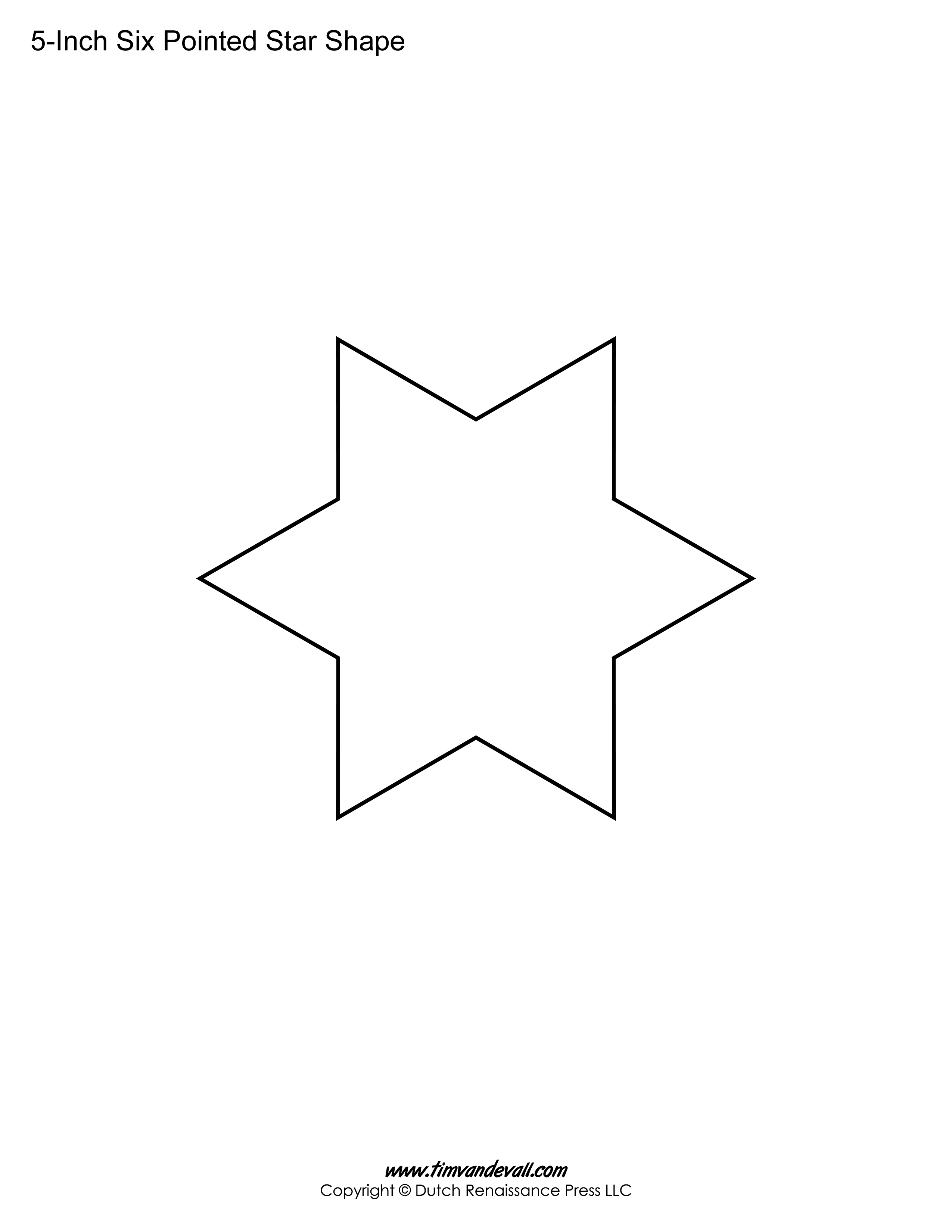 printable six pointed star templates blank shape pdf downloads