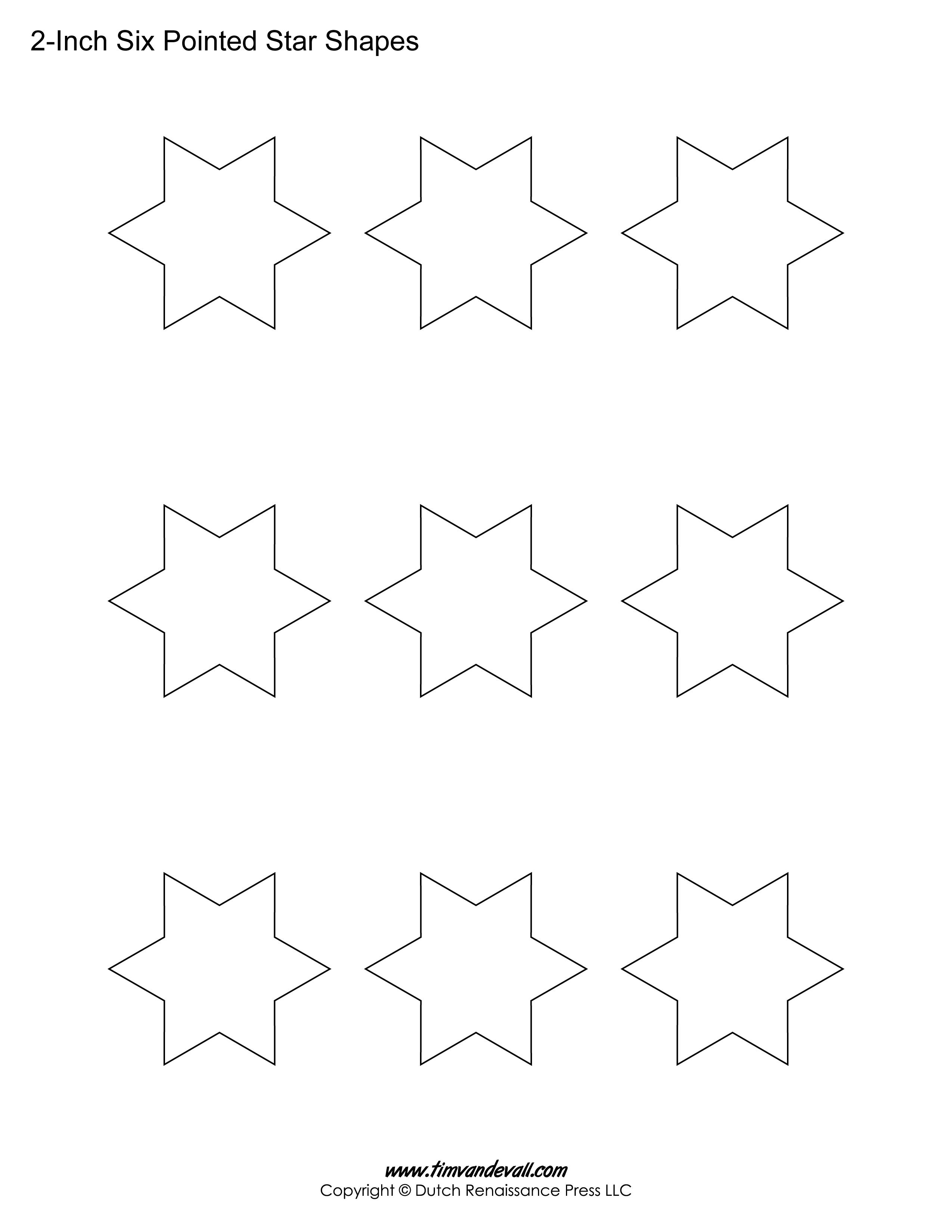6 sided stars