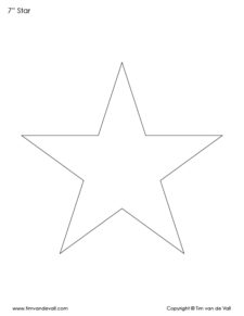 7 inch star shapes