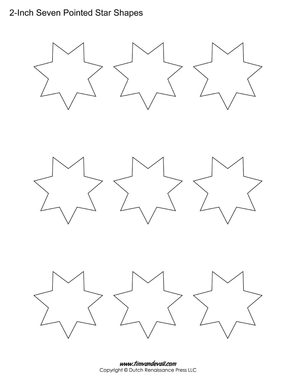 seven sided stars printables