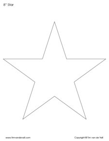 8 inch stars to print
