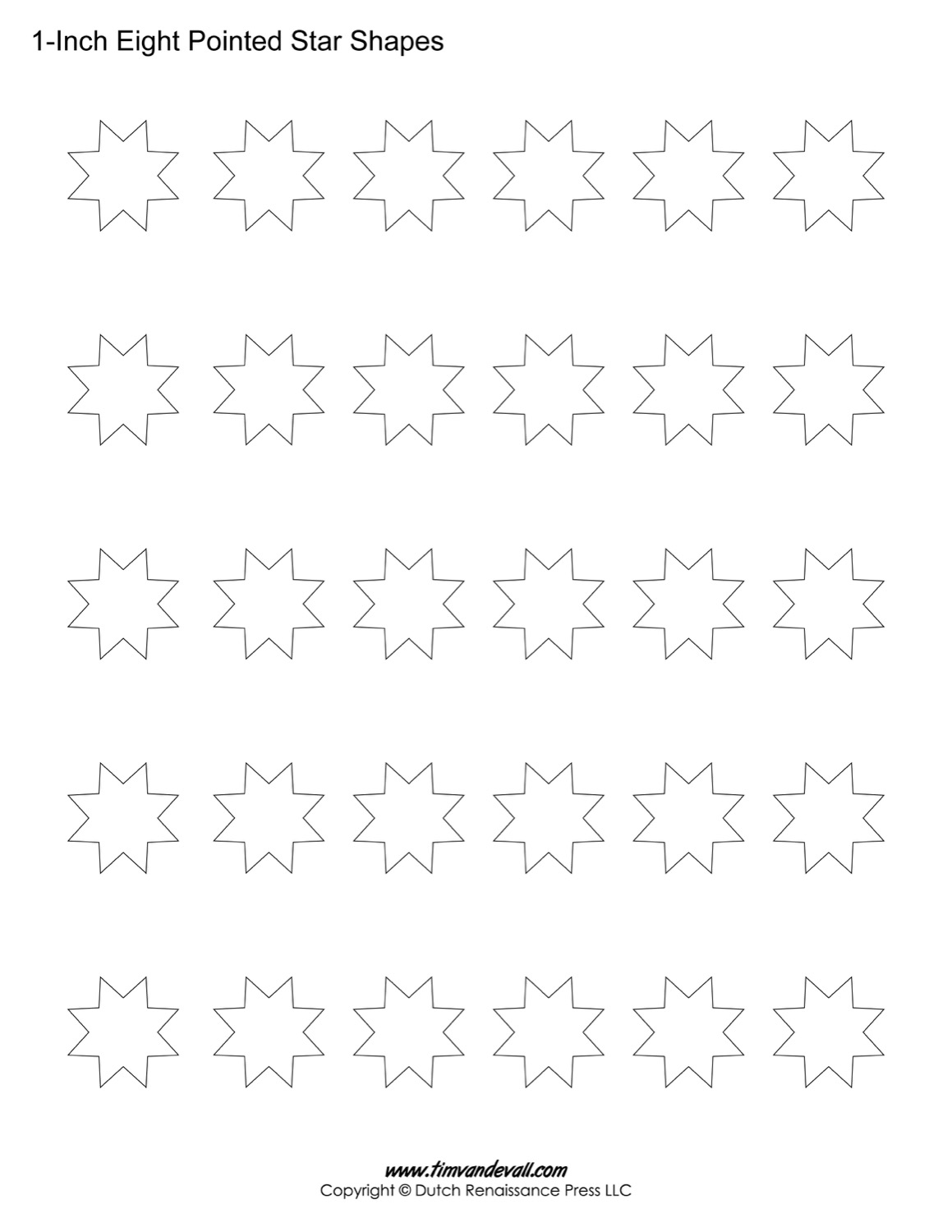 eight pointed star shapes