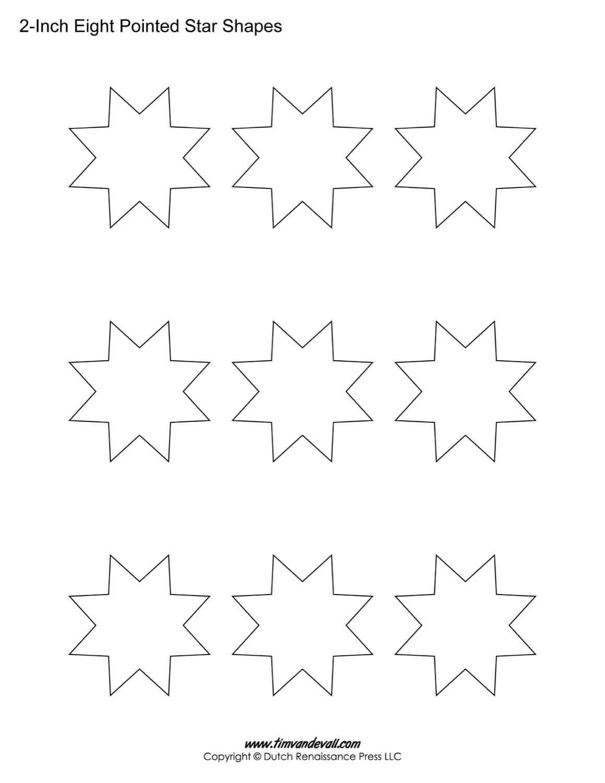 8 sided stars