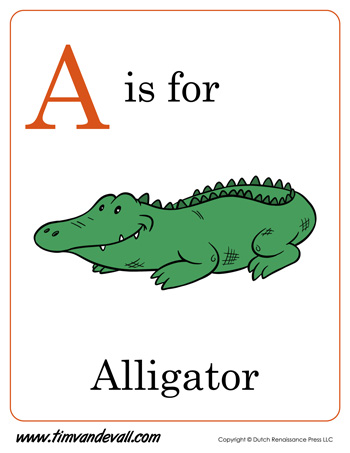 picture regarding Printable Letter a named A is for Alligator Letter A Printable