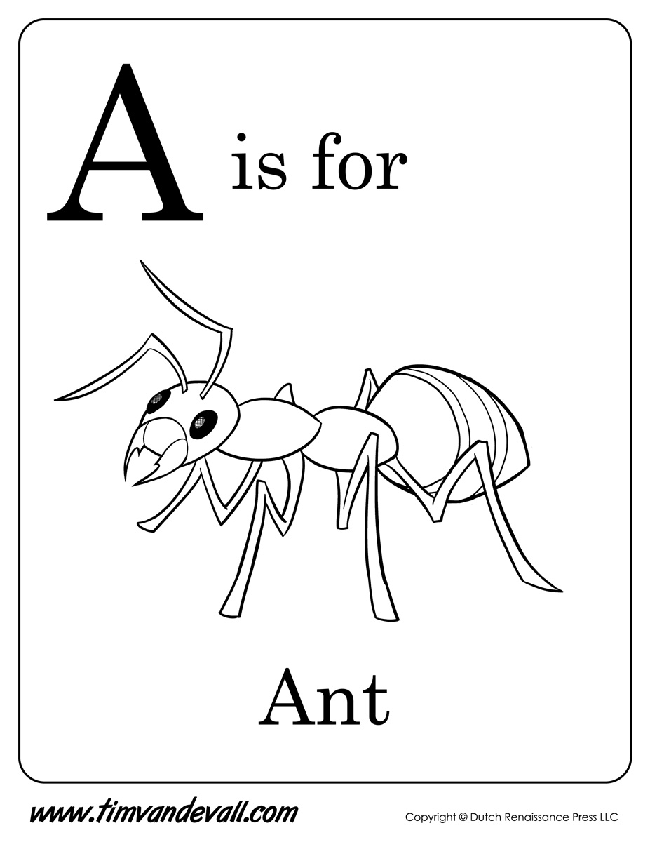 Tim van de vall comics printables for kids for Ant coloring pages for kids