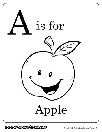 A is for Apple Printable Tim 39 s