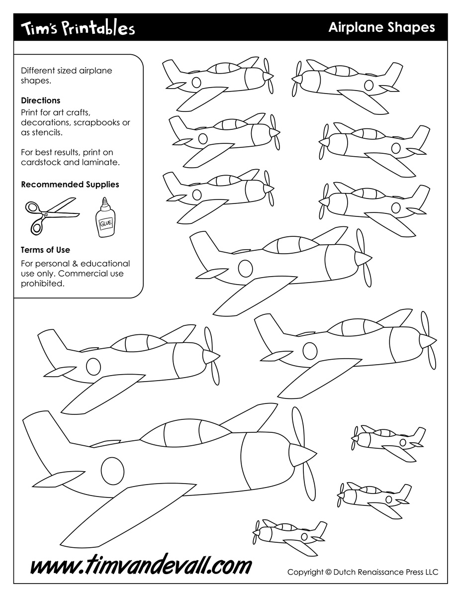 cut out airplane template - airplane templates tim van de vall