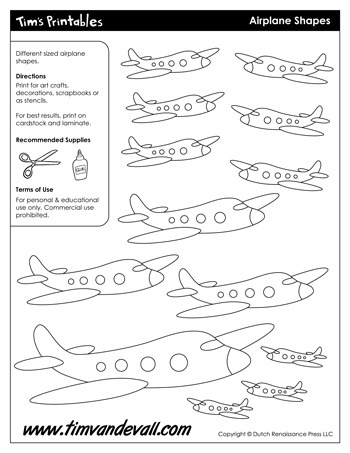 airplane shapes