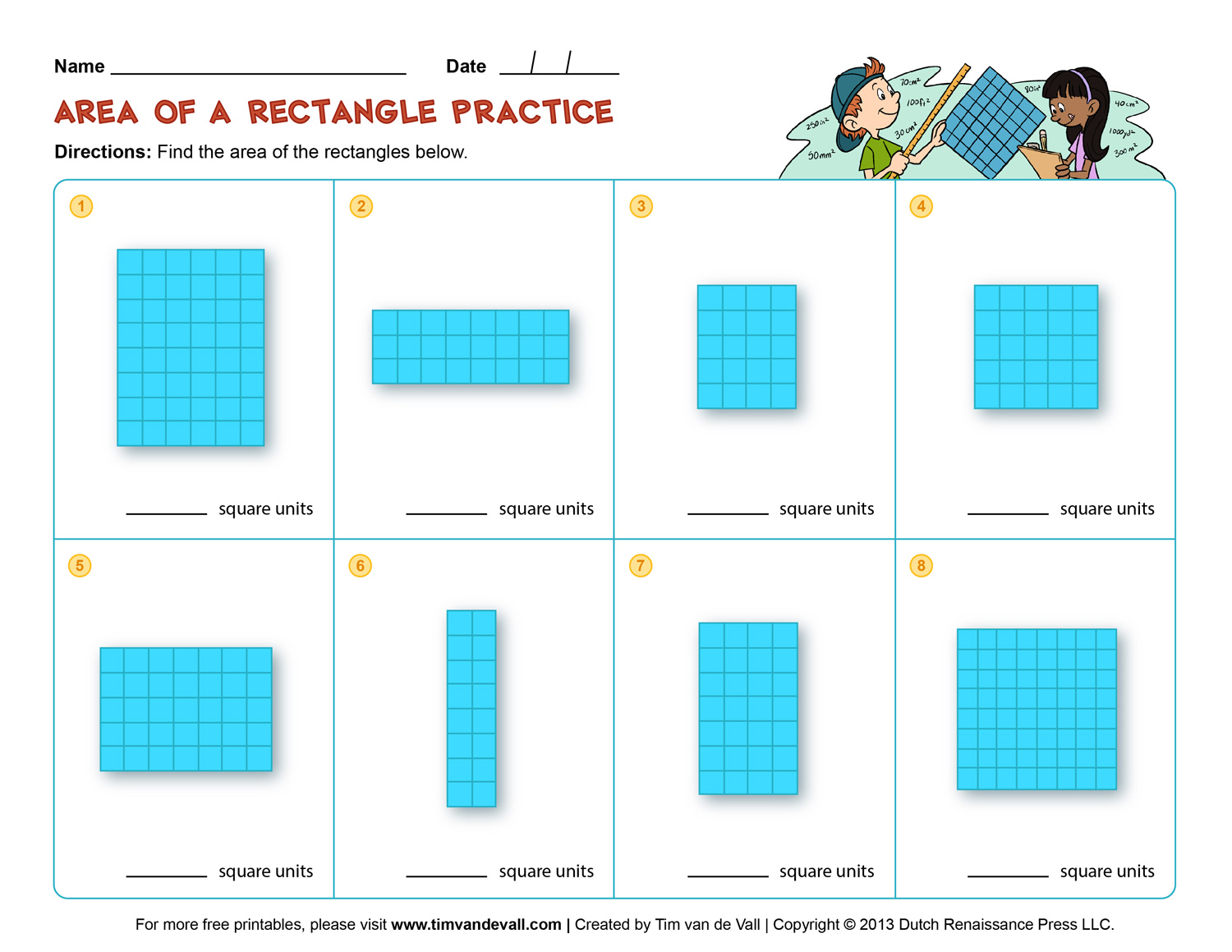 Area and Perimeter Worksheets - Third Grade Math Worksheets