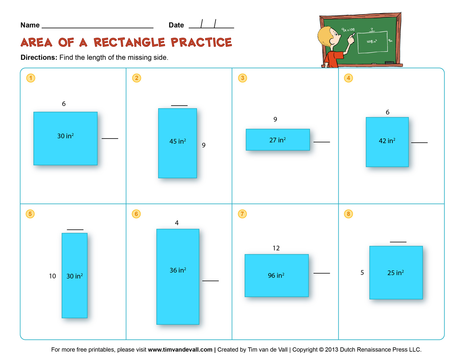 Perimeter Worksheets For 3rd Grade Free Parlorcreativity – Area of Rectangles Worksheet