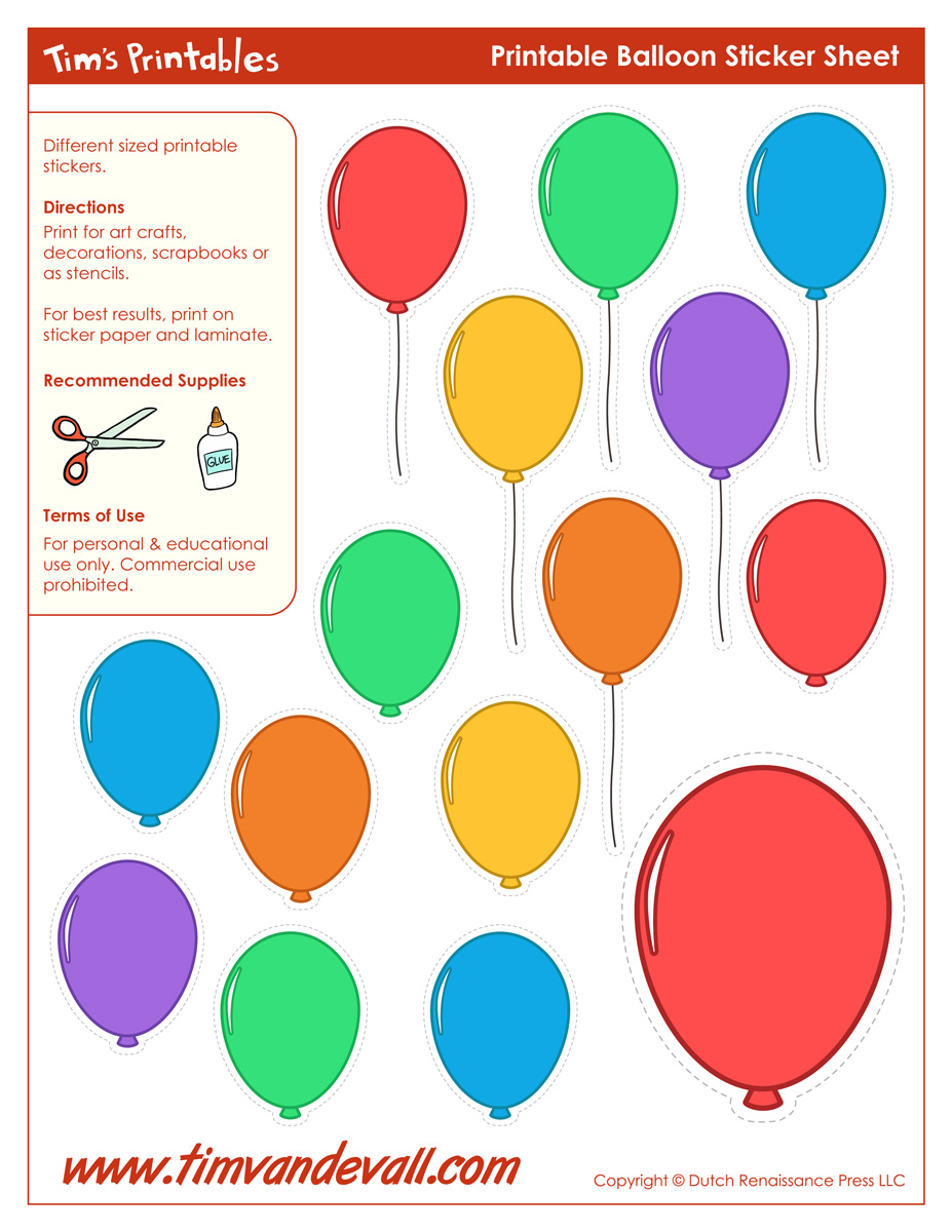 picture regarding Balloon Modelling Instructions Printable titled Printable Balloon Template Birthday Printables