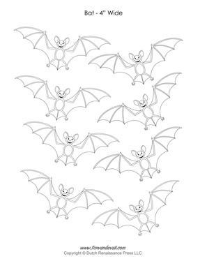 Printable halloween bats - Halloween Bat Templates Bat Templates