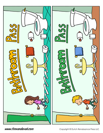 image about Printable Bathroom Passes named Printable Toilet Pes - Tims Printables