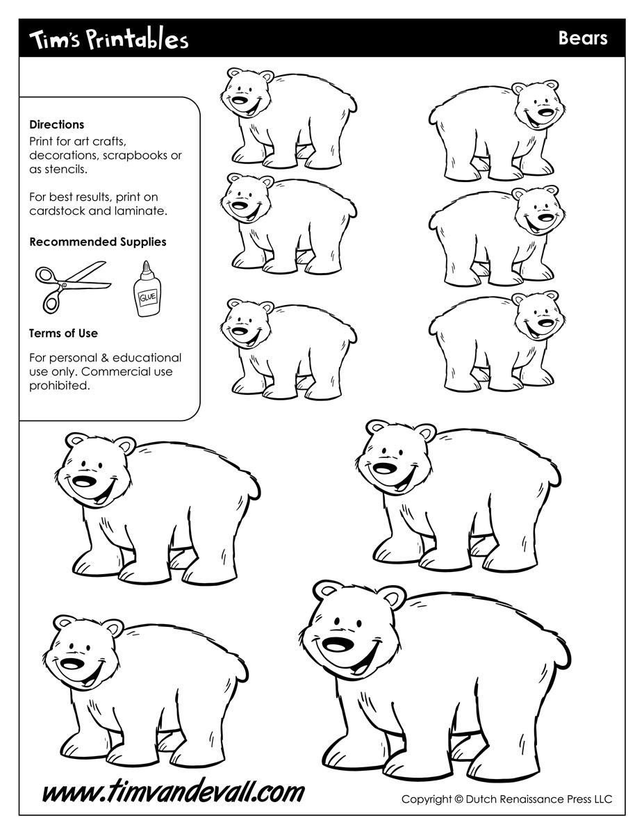Bear Templates   Printable Bear Templates