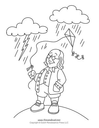 Benjamin Franklin Coloring Page