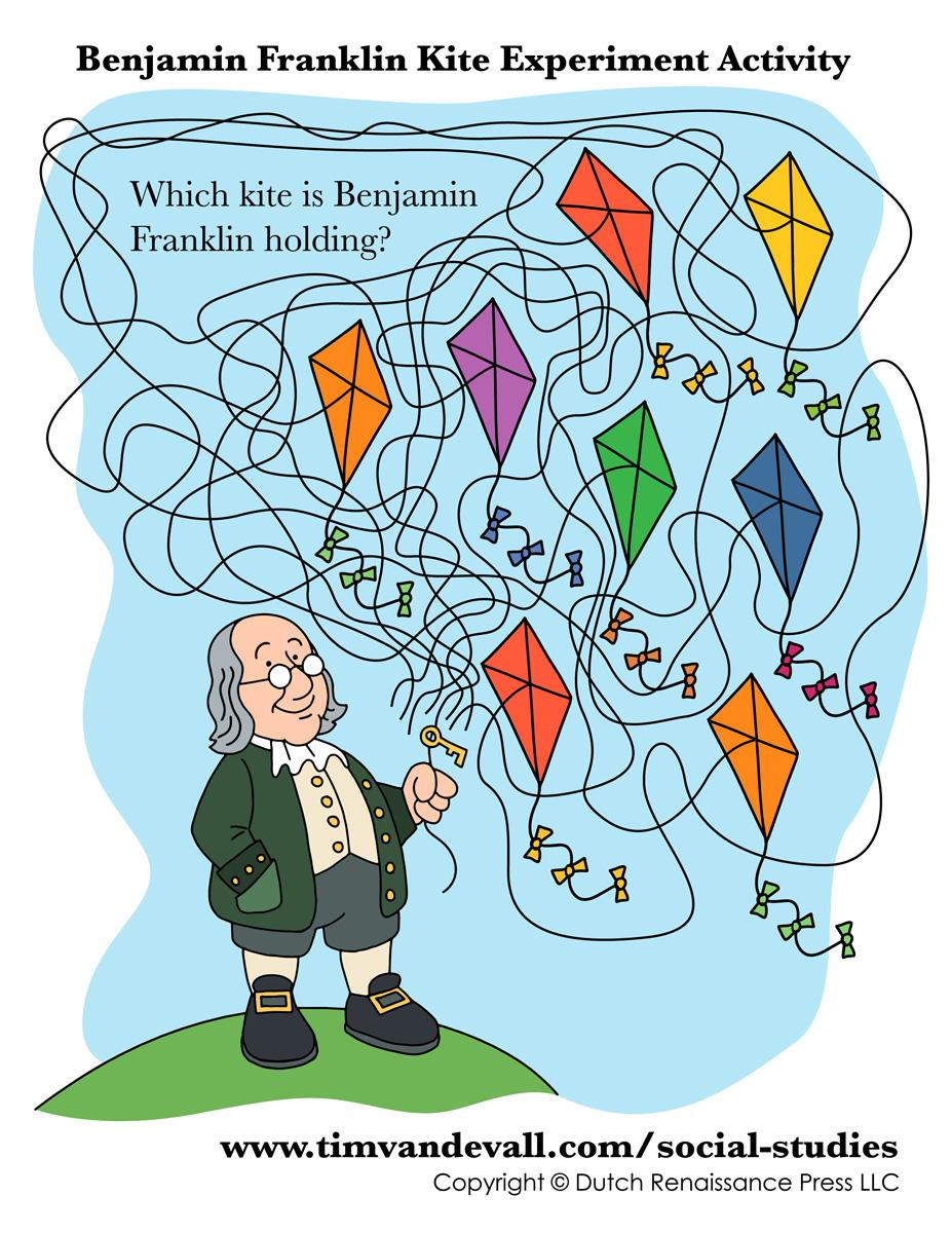 ben franklin kite activity tim u0027s printables