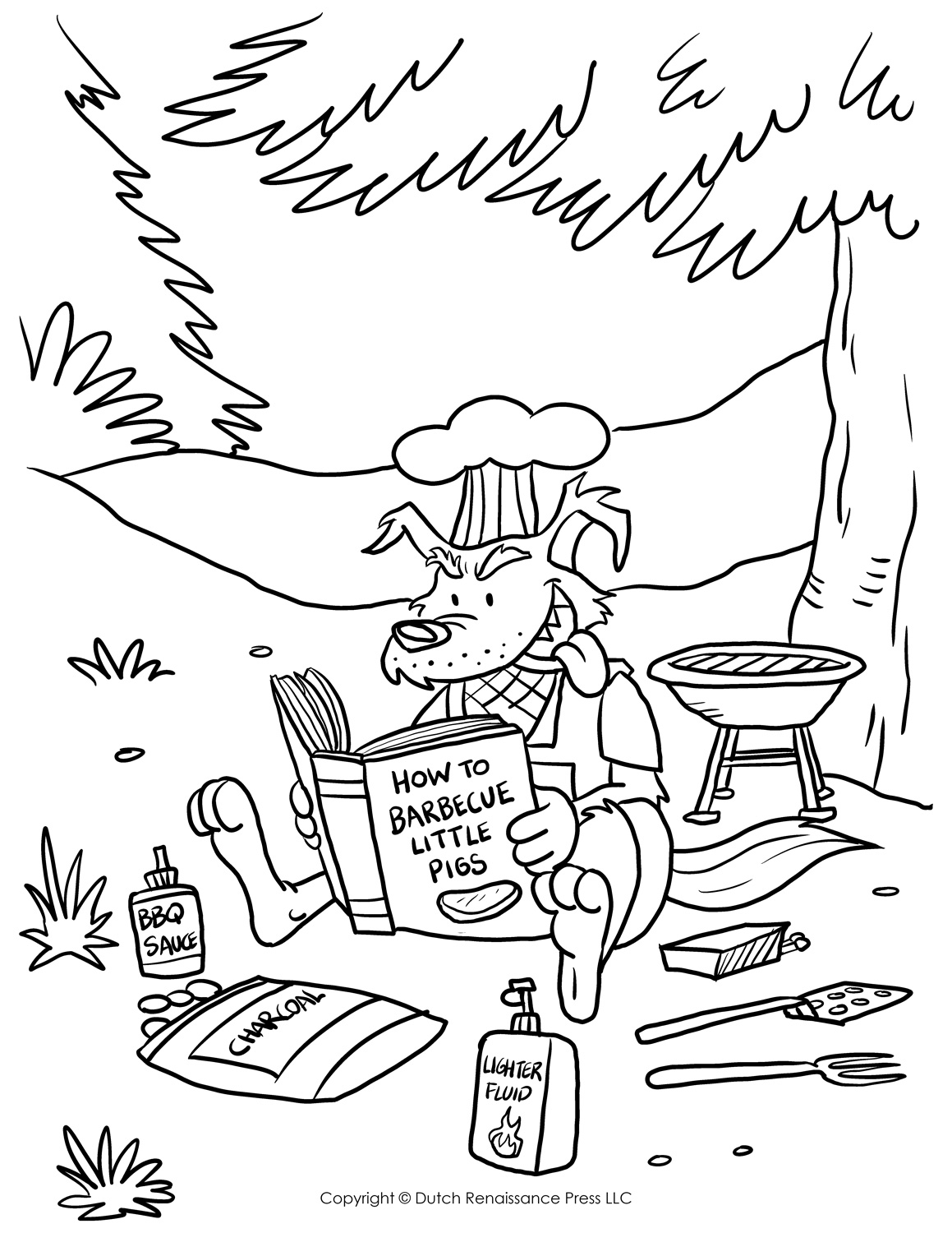 Big Bad Wolf Coloring Page Tim 39 s