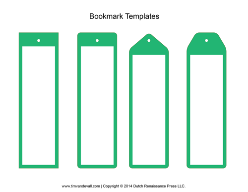 book marker template - blank bookmark templates make your own bookmarks