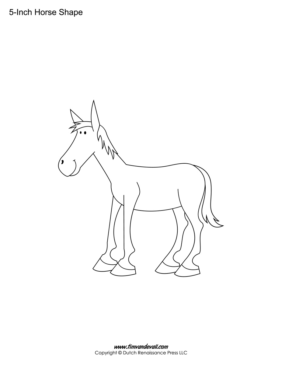 blank Horse template