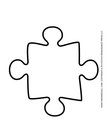 Large Puzzle Piece Template  ApigramCom
