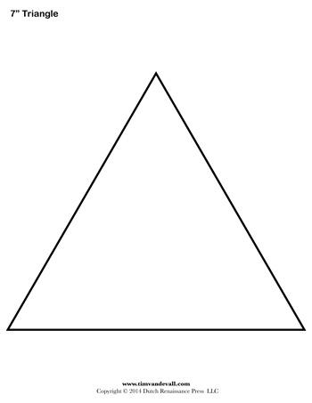 Free printable triangle