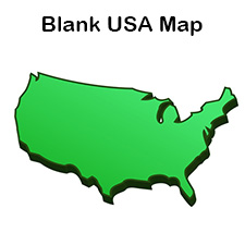 Blank Map of the United States | Printable USA Map PDF Template