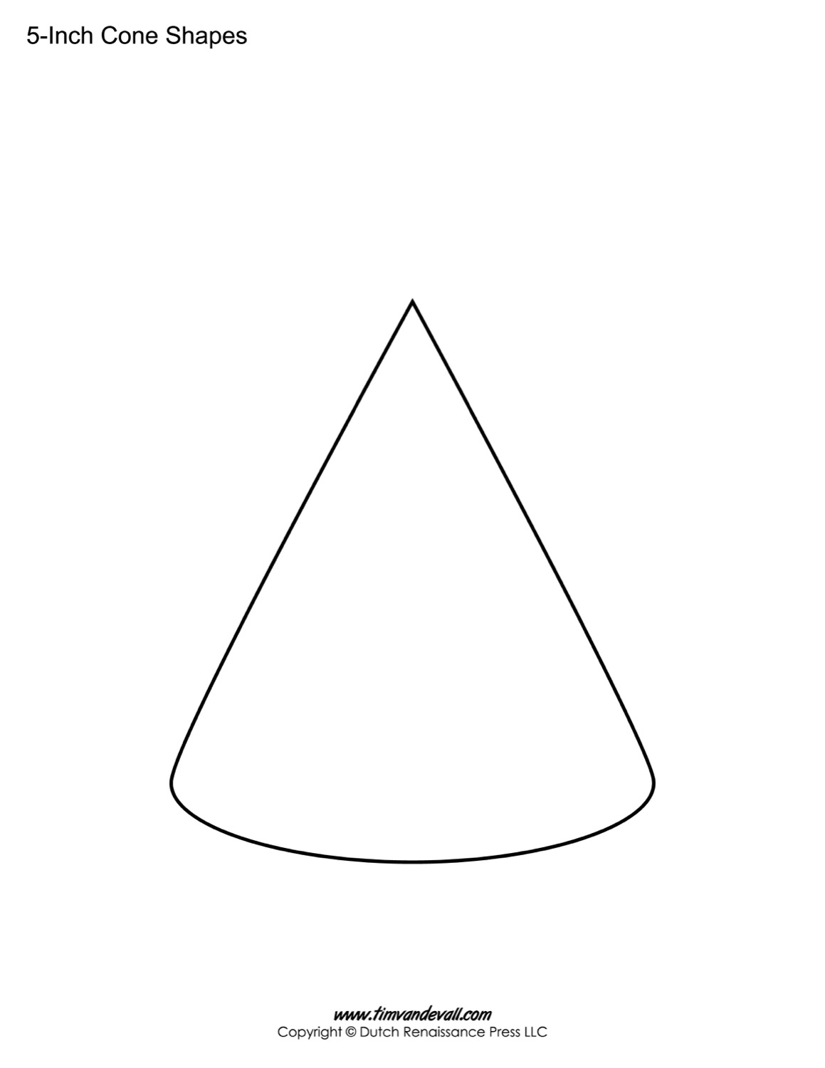 blank Cone template