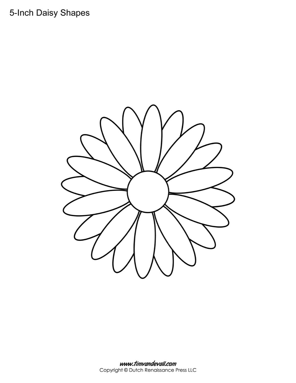 free printable daisy templates