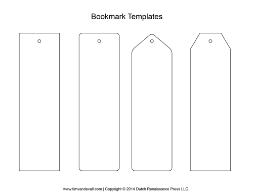 Blank Bookmark Templates - Make Your Own Bookmarks