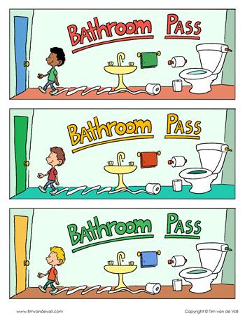 boys bathroom pass template