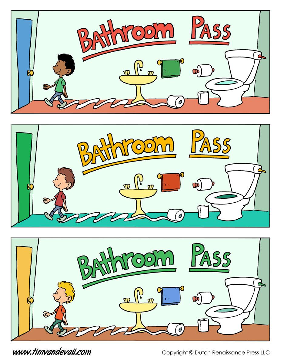 School Restroom Pass Template Quizeteer Com