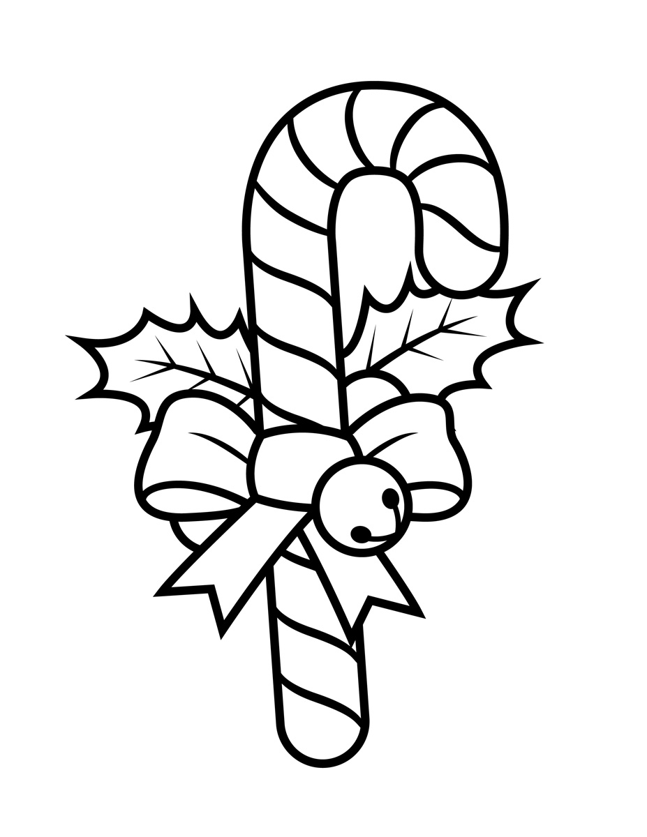 candy-cane-coloring-page - Tim\'s Printables