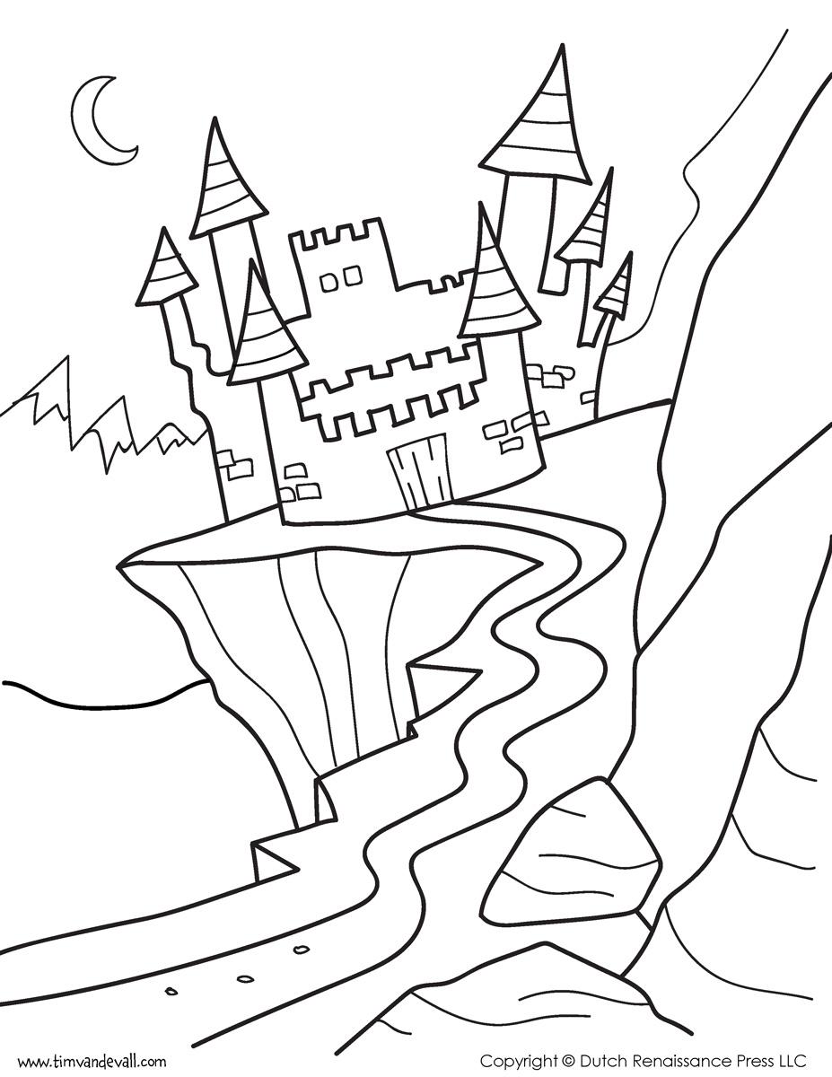 Castle Coloring Page 1 Tim 39 s