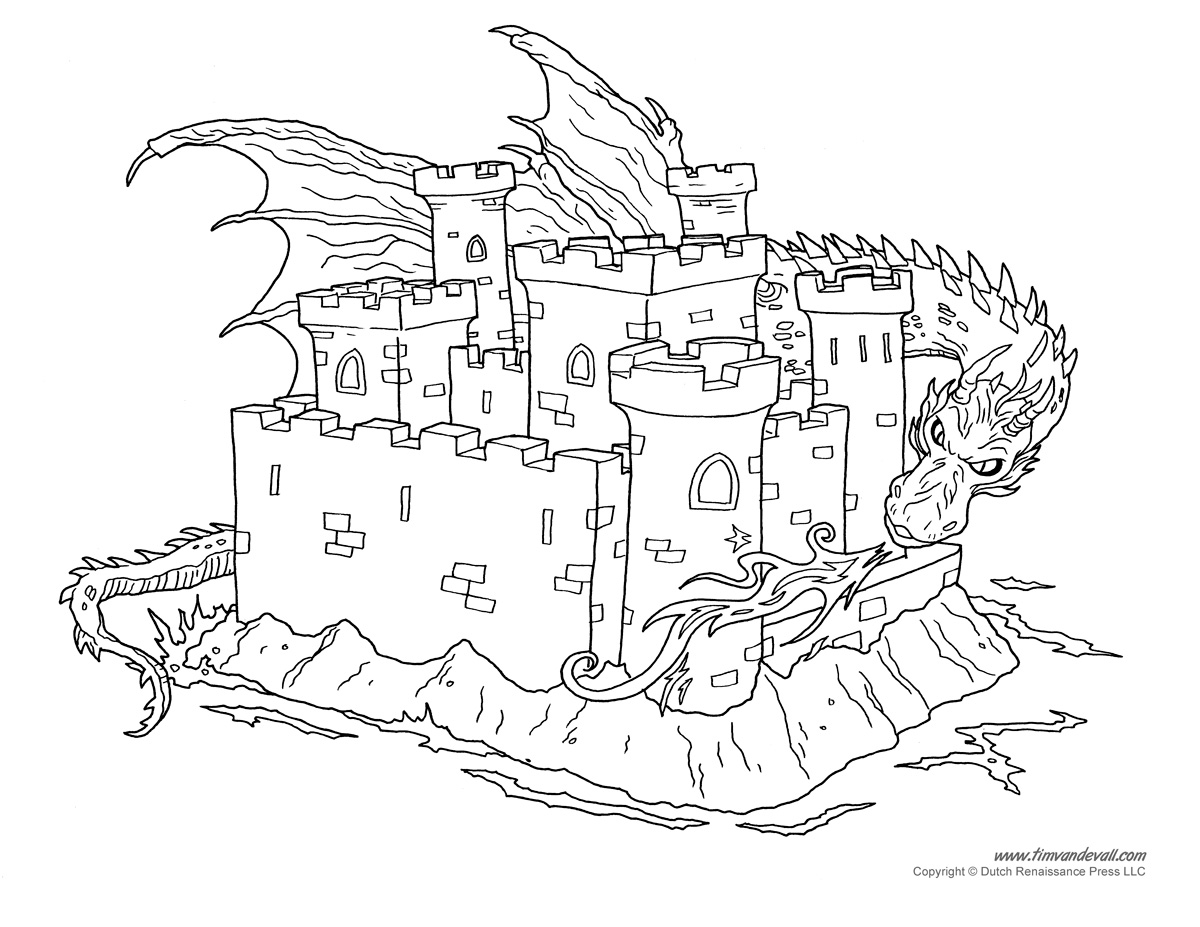 Castle Coloring Page - Tim\'s Printables